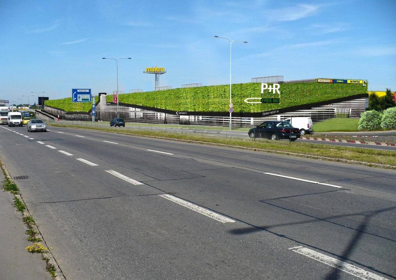Vizualizace parkovacího domu P+R Černý Most